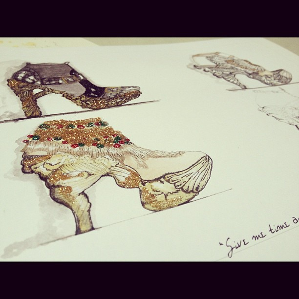 McQueen:The Shoes (hand-embellished giveaway print)