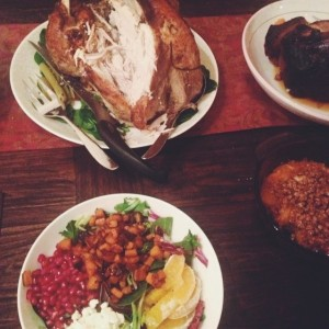 Our 2-person Thanksgiving feast!