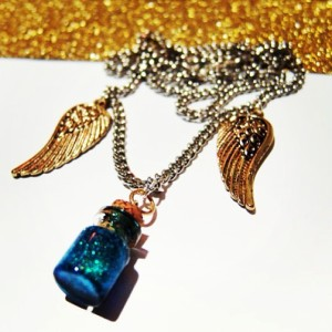 I made these Supernatural Castiel-inspired necklaces on etsy that went quite popular for the holidays!