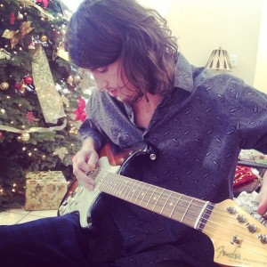 ...He got a guitar for Christmas (I got a DRUMSET!) & we now play music together...
