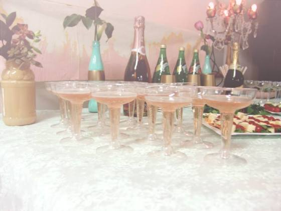 Champagne toast glasses waiting for their big moment!